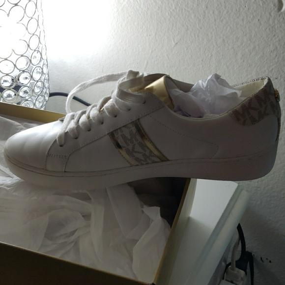 michael kors irving stripe sneakers